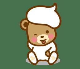 CREAM BABY BEAR sticker #83587