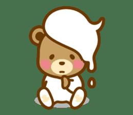 CREAM BABY BEAR sticker #83588