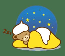 CREAM BABY BEAR sticker #83589
