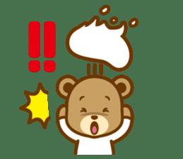 CREAM BABY BEAR sticker #83592