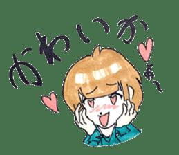 hakata girl and kitakyu boy sticker #83960