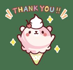 Mr. bear ice cream sticker #84836