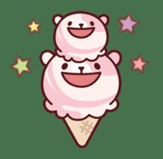 Mr. bear ice cream sticker #84837