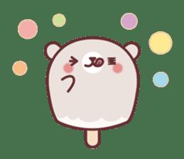 Mr. bear ice cream sticker #84844