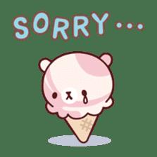 Mr. bear ice cream sticker #84846