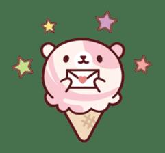 Mr. bear ice cream sticker #84856