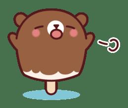 Mr. bear ice cream sticker #84860