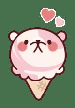 Mr. bear ice cream sticker #84861