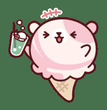 Mr. bear ice cream sticker #84862