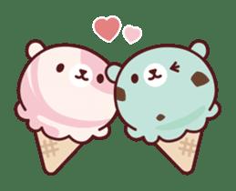 Mr. bear ice cream sticker #84863
