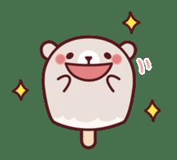 Mr. bear ice cream sticker #84866