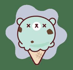 Mr. bear ice cream sticker #84867