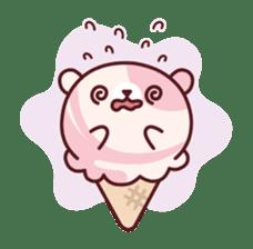 Mr. bear ice cream sticker #84868