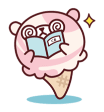 Mr. bear ice cream sticker #84872