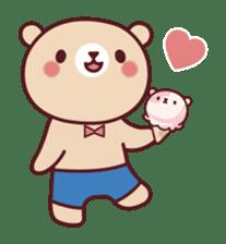 Mr. bear ice cream sticker #84875