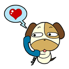 Cat and Dog dating sticker #84878