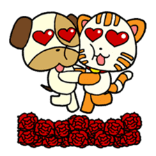 Cat and Dog dating sticker #84880