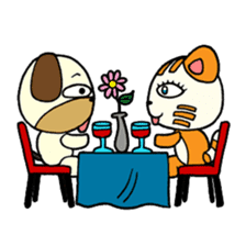 Cat and Dog dating sticker #84884