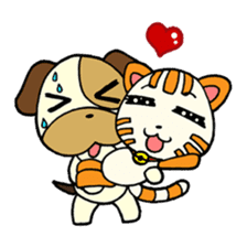 Cat and Dog dating sticker #84885