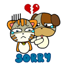 Cat and Dog dating sticker #84886