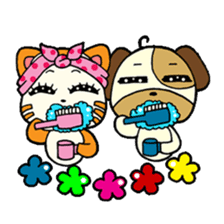 Cat and Dog dating sticker #84887