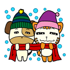 Cat and Dog dating sticker #84896