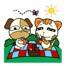 Cat and Dog dating sticker #84900