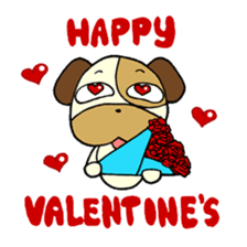 Cat and Dog dating sticker #84901