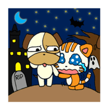 Cat and Dog dating sticker #84905