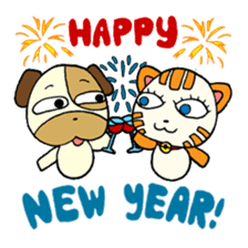 Cat and Dog dating sticker #84906