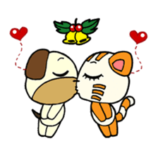 Cat and Dog dating sticker #84908