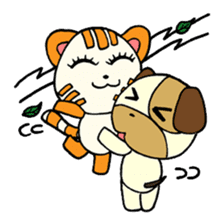 Cat and Dog dating sticker #84912