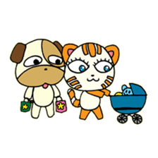 Cat and Dog dating sticker #84914