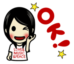 LOVE & MUSIC & PEACE !! sticker #85237