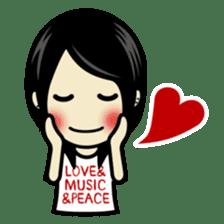 LOVE & MUSIC & PEACE !! sticker #85240