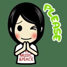 LOVE & MUSIC & PEACE !! sticker #85246