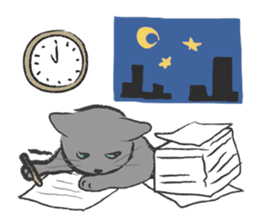 cat's day sticker #85313