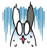 Lazy rabbit sticker #85328