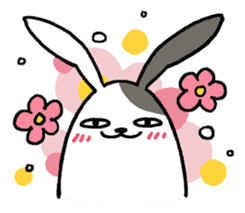 Lazy rabbit sticker #85335