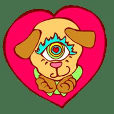 CrazY Eyes AniMaLS sticker #85523
