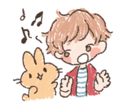 Mao-kun and Chakotan sticker #85886