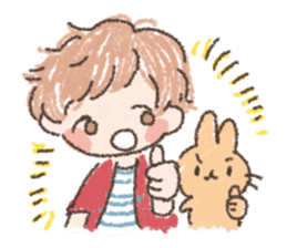 Mao-kun and Chakotan sticker #85900
