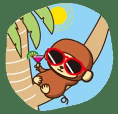 Lazy Monchey (ENG) sticker #86677