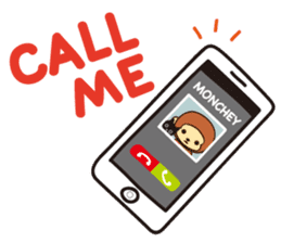 Lazy Monchey (ENG) sticker #86685