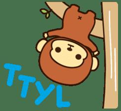 Lazy Monchey (ENG) sticker #86688