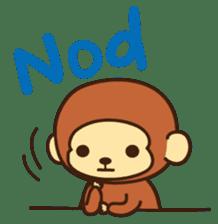 Lazy Monchey (ENG) sticker #86693