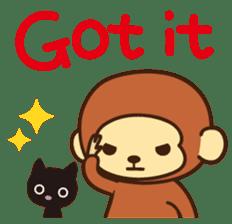 Lazy Monchey (ENG) sticker #86694