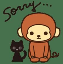 Lazy Monchey (ENG) sticker #86696