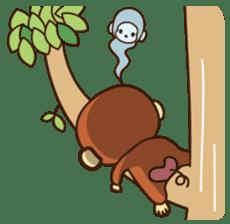 Lazy Monchey (ENG) sticker #86697