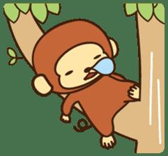 Lazy Monchey (ENG) sticker #86702